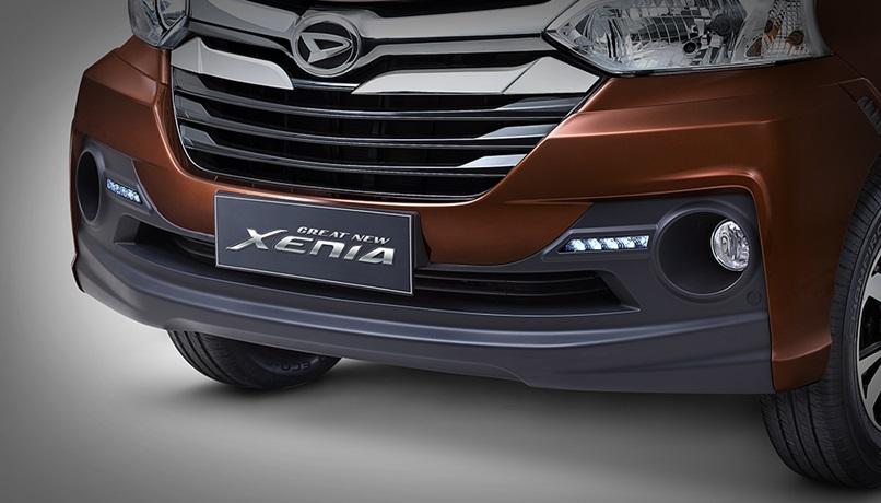 Eksterior Depan Daihatsu Xenia menggunakan tampilan sporty dan mewah