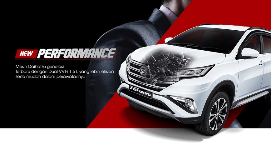 Mesin Daihatsu Terios mampu tampil tangguh dan irit bahan bakar