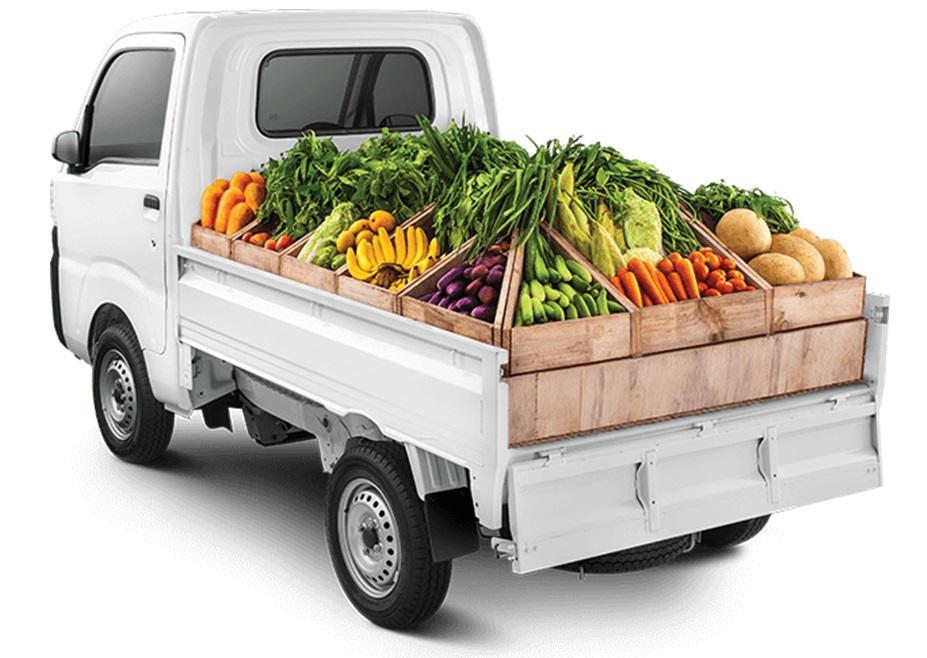 Daya angkut Daihatsu Hi-Max mampu dengan mudah mengangkut buah-buahan dan sayuran