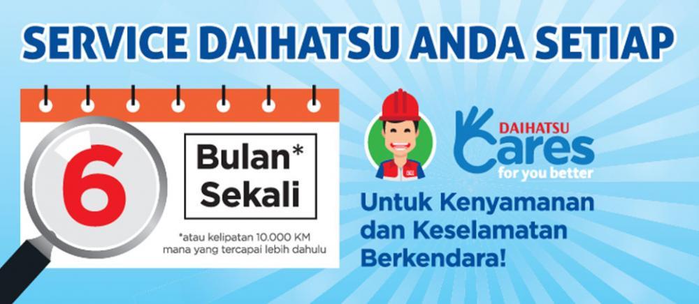 Promo Daihatsu Xenia sediakan jasa servis berkala setiap 6 bulan