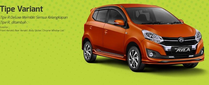 Varian-varian Daihatsu Ayla tawarkan banyak pilihan bodi trim