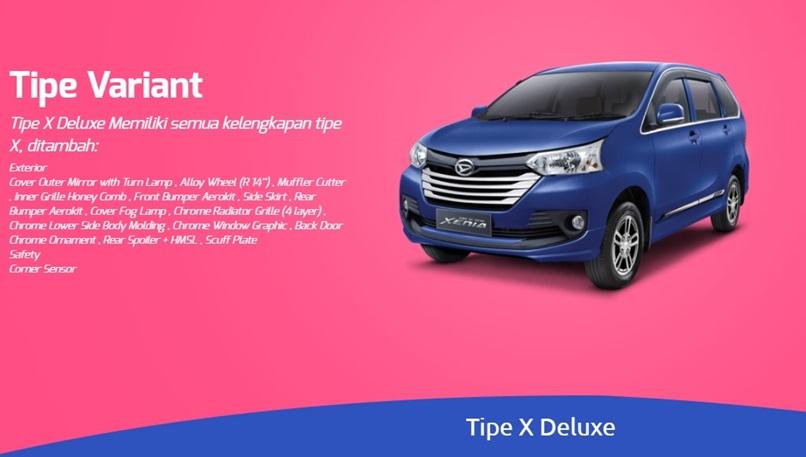 Varian-varian Daihatsu Xenia menyediakan fitur-ftiur yang berbeda-beda