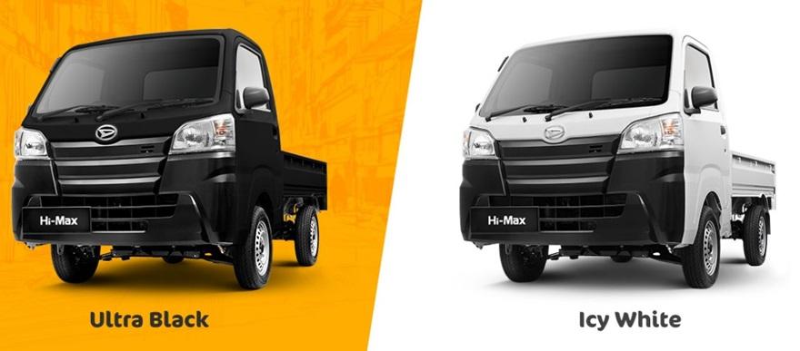 Varian-varian Daihatsu Hi-Max tampilkan dua pilihan warna menarik yakni Ultra Black dan Icy White
