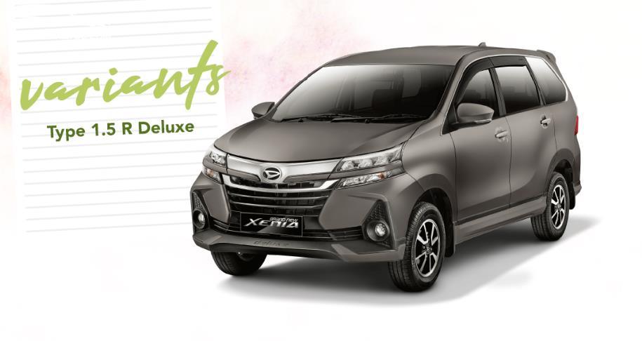 Daihatsu Xenia 1.5 Deluxe 2019 berdiri sebagai varian tertinggi
